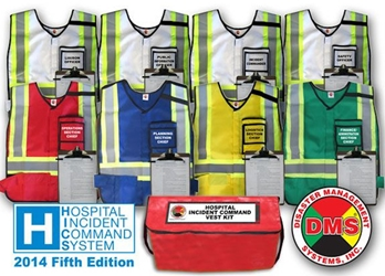 HICS 2014 Command Vest Kit - 8 Position for Small Hospitals DMS-05371