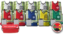 NIMS/ICS Clinic Command Vest Kit for Small Facility - 10 Position DMS-05466