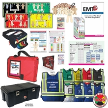 MCI Tabletop Training Kit Optimized for EMT3 DMS-05817