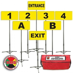 Event Organizational Flag Signage Kit DMS-06223, DMS-06223W