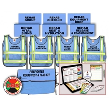 Firefighter REHAB Vest, Flag & Accountability Kit - 2015 NFPA 1584 from Disaster Management Systems