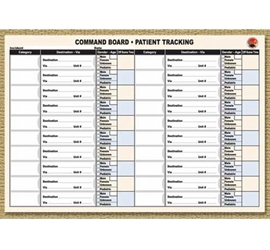 Command Board Patient Tracking Sheets from Disaster Management Systems