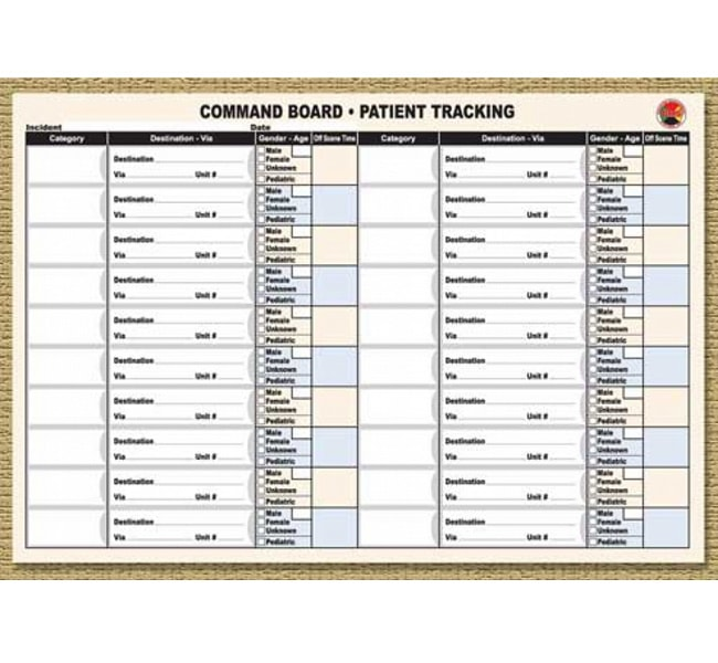 Command Board Patient Tracking Sheets Dms 05506