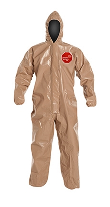 Tychem 5000 Coverall w/ Hood, Elastic Wrists & Ankles
