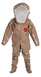 Tychem 5000 Level B Encapsulated Suit w/ Expanded Back, Rear Entry