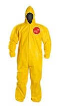 Tychem  2000 Coverall w/ Hood, Elastic Wrists & Ankles Ebola, QC127B  YL  00-M, QC127B  YL  00-L, QC127B  YL  00-XL, QC127B  YL  00-2XL