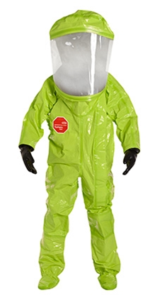 Tychem  10000 Level A Encapsulated Suit (NFPA 1994, Class 2) w/ Expanded Back, Front Entry from DuPont