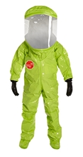 Tychem 10000 Level A Encapsulated Suit (NFPA 1994, Class 2) w/ Expanded Back, Rear Entry TK613T  LY  00M, TK613T  LY  00L, TK613T  LY  00XL, TK613T  LY  002X