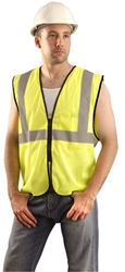 Value Mesh Safety Vest w/ Zip Front from Occunomix