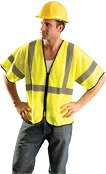 Value Mesh Safety Vest w/ Sleeves & Zip Front from Occunomix