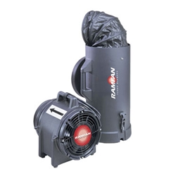 EF7015 Intrinsically Safe Blower / Exhauster w/ Q-C Canister and 15 ft. Anti-Static Duct
