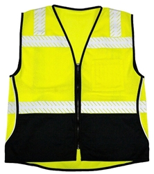 Flame Resistant Black Series Mesh Vest from ML Kishigo