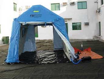 FSI DAT Series Pneumatic Shelter 10' W x 5' L x 9' H from FSI