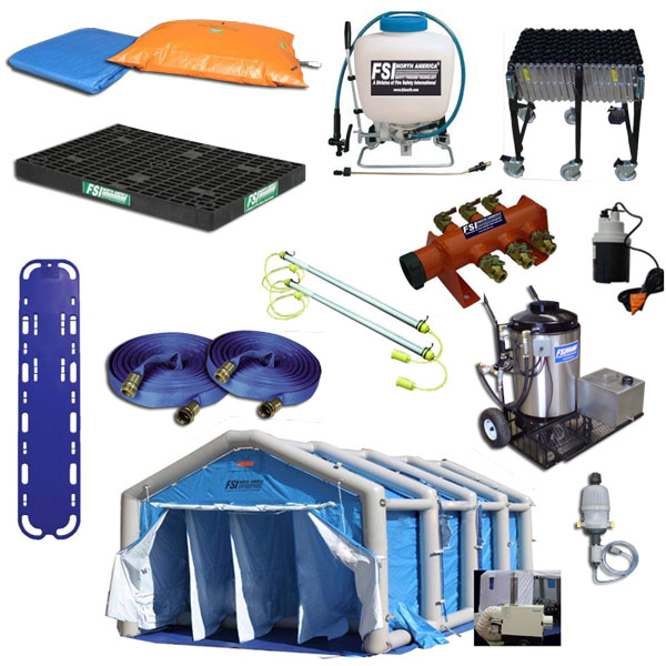 Complete Air Inflatable/Pneumatic Mass Casualty Decon Shower System from FSI