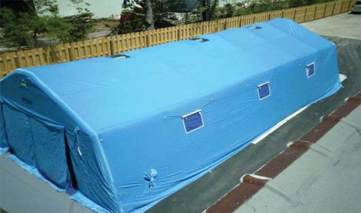 FSI DAT Series Pneumatic Shelter  20' W x 40' L x 11' H from FSI