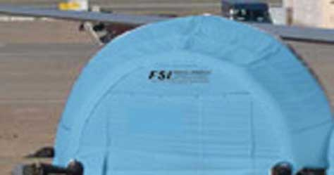 Unique Dome Shaped FSI DAT Series Pneumatic Shelter from FSI
