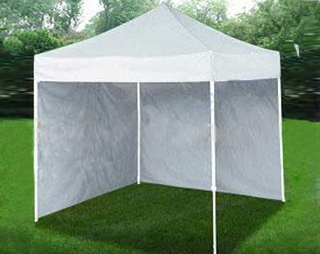 Velcro Attached 10 ft Sidewalls for an Enclosed Shelter from FSI