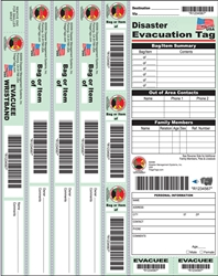 Disaster Evacuation Wristband Tag