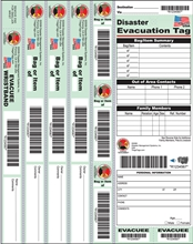 Disaster Evacuation Wristband Tags from Disaster Management Systems