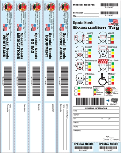 Special Needs Evacuation Tags from Disaster Management Systems