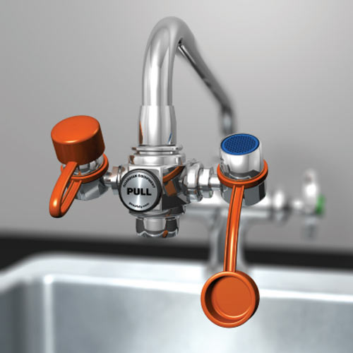 Guardian EyeSafe Faucet-Mounted Eyewash, Adjustable Aerated Outlet Heads from Guardian Equipment