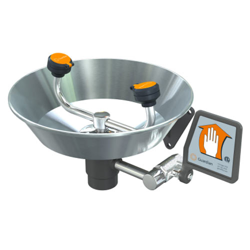 Guardian Eyewash, Wall Mounted, Stainless Steel Bowl from Guardian Equipment