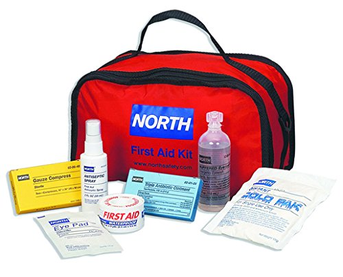 North First Responder First Aid Kit w/ Large Soft Pak Carry Bag from North by Honeywell