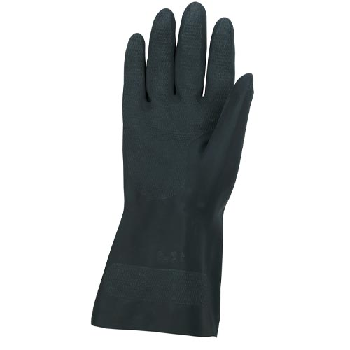 5435 Memphis Black Neoprene Glove, 30 mil Flock Lined Neoprene Latex Free from MCR Safety