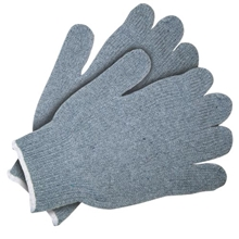 7 Gauge Heavy Weight Gray Cotton / Polyester Blend Glove from MCR Safety