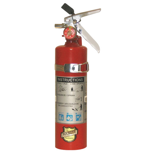 2.5 lb ABC Dry Chemical Fire Extinguisher w/ Vehicle Bracket