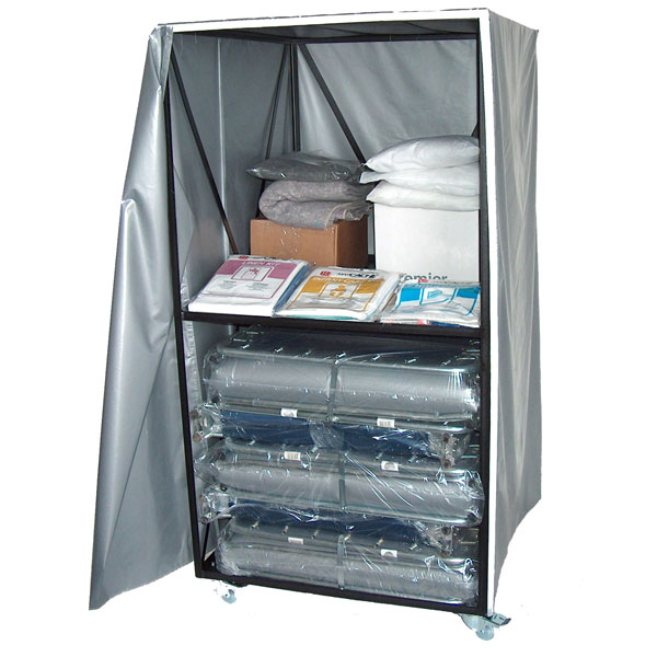 Cart w/ 10 XH-3IV Cots from Blantex