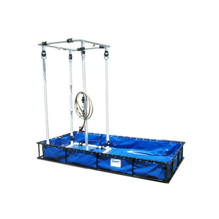 Decon Pool w/ Shower Steel Frame from Husky Portable Containment