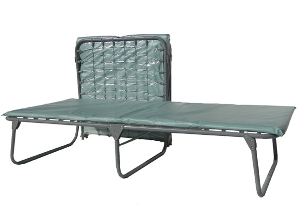 Extra Wide Steel Folding Cot w/ Vinyl Mattress XM-6
