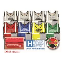 HICS 2014 Command Vest Kit - 8 Position for Small Hospitals from Disaster Management Systems