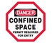 Manhole Warning Barrier - CONFINED SPACE PERMIT REQUIRED FOR ENTRY - MWB2