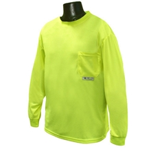 Non-Rated Long Sleeve Green Safety T-Shirt from Radians