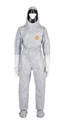 Tychem  6000 Hooded Coverall w/ Rear Entry, Horizontal Zipper