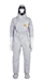 Tychem  6000 Hooded Coverall w/ Rear Entry, Horizontal Zipper from DuPont