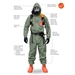 Tychem 2000 SFR Coverall w/ Attached Hood, Front Zipper Closure - QS127T  GR  00