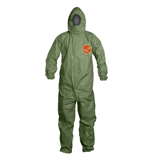 Tychem 2000 SFR Coverall w/ Attached Hood, Front Zipper Closure from DuPont