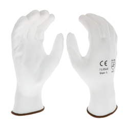 White PU Palm Coated White Nylon Gloves from West Chester