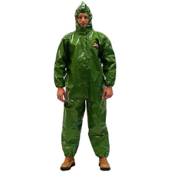 Zytron 400 Coverall w/ Hood, Elastic Wrists,& Sock Boots from Kappler