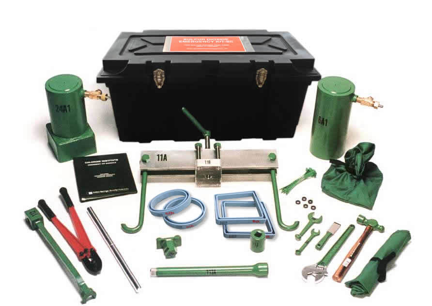 Sulfur Dioxide Emergency Kit for Tank Cars/Tank Trucks from Indian Springs