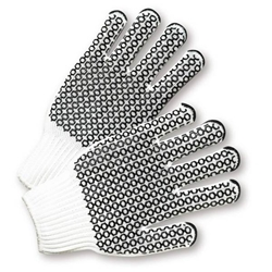 White Cotton/Polyester w/ Honey Comb Grip Glove from West Chester