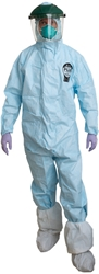 ProVent Plus Coverall w/ Attached Boots, Ultrasonic/Taped Seams PPH424-SM, PPH424-MD, PPH424-LG, PPH424-XL, PPH424-2X
