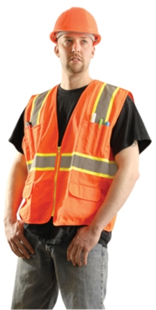 Solid Two-Tone Surveyor Vest from Occunomix