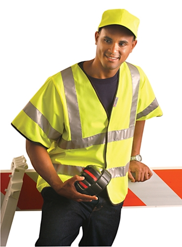 Solid Dual Stripe Safety Vest from Occunomix