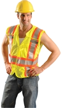 Mesh Two-Tone Expandable Vest from Occunomix