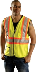 Premium Mesh Two Tone Vest from Occunomix