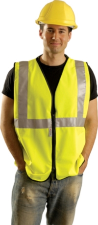 Premium Solid Safety Vest from Occunomix